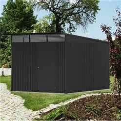 8 x 12 XX Large Premier Heavy Duty Metal Dark Grey Shed  (2.6m x 3.8m)