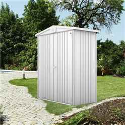 Discontinued 1-4-206 x 3 Premier Heavy Duty Metal Silver Metallic Shed (1.72m x 0.84m)