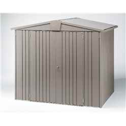 6 x 5 Premier Heavy Duty Metal Quartz Grey Shed (1.72m x 1.56m)
