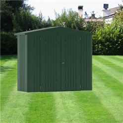 8 x 3 Premier Heavy Duty Metal Dark Green Shed (2.44m x 0.84m)