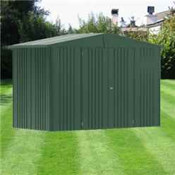 10 x 5 Premier Heavy Duty Metal Dark Green Shed (3.16m x 1.56m)