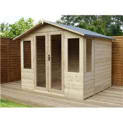 8 x 8 Pressure Treated Tongue And Groove Summerhouse