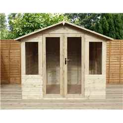 8 x 6 Pressure Treated Tongue And Groove Summerhouse