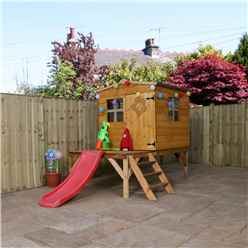 Apex Tower Playhouse With Slide 8ft x 8ft