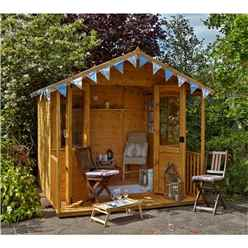8 x 8 Veranda Summerhouse - Assembled