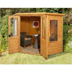 INSTALLED 7 x 7 Corner Summerhouse - INCLUDES INSTALLATION