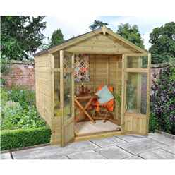 INSTALLED 7 x 5 Tongue and Groove Summerhouse - INCLUDES INSTALLATION