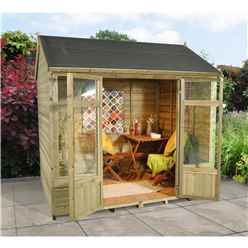 INSTALLED 8 x 6 Reverse Overlap Summerhouse - INCLUDES INSTALLATION
