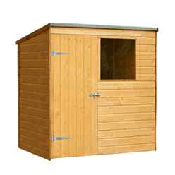 6ft x 4ft Shiplap Wooden Pent Shed (1.8m x 1.3m)