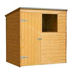 INSTALLED 6ft x 4ft Shiplap Tongue And Groove Pent Shed (1.8m x 1.3m) - INCLUDES INSTALLATION