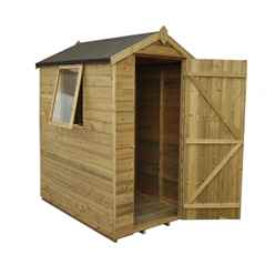 6 x 4 Pressure Treated Shiplap Tongue and Groove Shed
