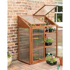 Deluxe Hardwood Mini Greenhouse
