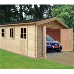 3.8m X 5.39m Log Cabin - 44mm Tongue And Groove Logs