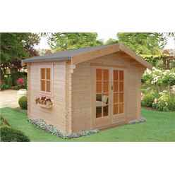 2.39m x 2.39m  Log Cabin - 70mm Tongue And Groove Logs