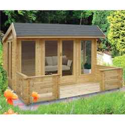 2.39m X 3.69m Log Cabin - 70mm Tongue And Groove Logs