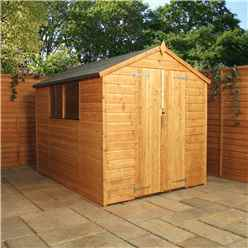 8 x 8 Wooden Shiplap Tongue and Groove Shed (10mm Solid OSB Floor) - 48HR + SAT Delivery*