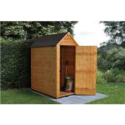 INSTALLED 3ft x 5ft Overlap Apex Garden Shed (0.9m x 1.6m) - INCLUDES INSTALLATION