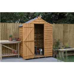 INSTALLED 3ft x 5ft Overlap Apex Garden Shed (1m x 1.6m) - Modular - INCLUDES INSTALLATION - *Doors is on the 5ft Side
