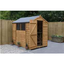 INSTALLED 7ft x 5ft Overlap Apex Shed (2.1 x 1.5m) - Modular - INCLUDES INSTALLATION