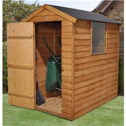 6 x 4 Overlap Apex Garden Shed + 1 Window - Assembled