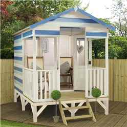 8 x 10 Beach Hut Summerhouse (12mm Tongue And Groove Floor + Roof) - 48hr + Sat Delivery*