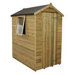 6 x 4 Pressure Treated Tongue and Groove Apex Shed