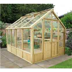 INSTALLED 10 x 8 Pressure Treated Greenhouse - INCLUDES INSTALLATION