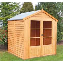 6 x 6 (1.76m x 1.83m) - Value Overlap Summerhouse - Double Doors - 10mm OSB Floor