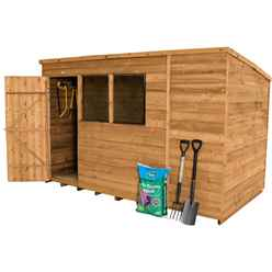10 x 6 Dip Treated Overlap Pent Shed - INSTALLED