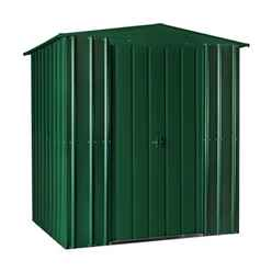 OOS - BACK FEB 2021 - 6 x 4 Premier EasyFix – Apex – Metal Shed - Heritage Green (1.84m x 1.23m)