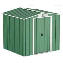 OOS - BACK FEB 2021 - 6 x 6 Value Apex Metal Shed - Green (2.02m x 1.82m)