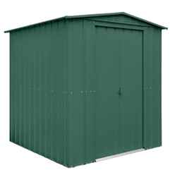 OOS - BACK W/C 22ND APRIL 2021 - 6 x 8 Premier EasyFix – Apex – Metal Shed - Heritage Green (1.84m x 2.47m)