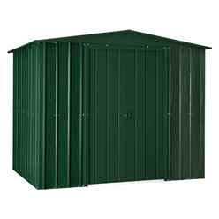 **PRE-ORDER: DUE BACK IN STOCK NOVEMBER 2020** 8 x 5 Premier EasyFix – Apex – Metal Shed - Heritage Green (2.45m x 1.54m)