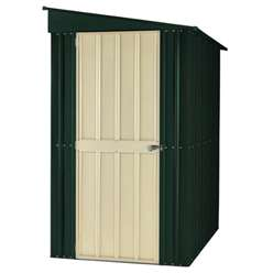 **PRE-ORDER:DUE BACK IN STOCK 30TH OCTOBER** 4 x 6 Heritage Green Lean To Metal Shed