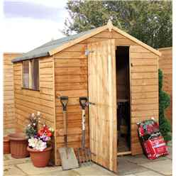 Installed 8 X 6 Value Wooden Overlap Apex Shed With 2 Windows And Single Door (solid 10mm Osb Floor) - Includes Installation
