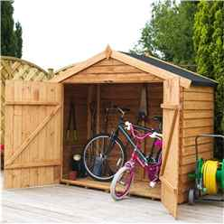Installed Bike Store 7 x 3 Value Wooden Overlap With Double Doors (10mm OSB Floor) - Includes Installation