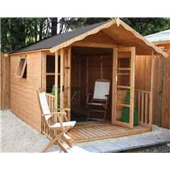INSTALLED 12 x 8 Premier Wooden Garden Summerhouse (12mm Tongue and Groove Floor and Roof) - INCLUDES INSTALLATION