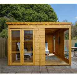 INSTALLED 10 X 10 Premier Pent Summerhouse - INCLUDES INSTALLATION