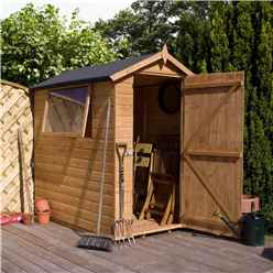 Installed 7 X 5 Premier Tongue And Groove Apex Wooden Garden Shed With 1 Window And Single Door (12mm Tongue And Groove Floor And Roof) - Includes Installation