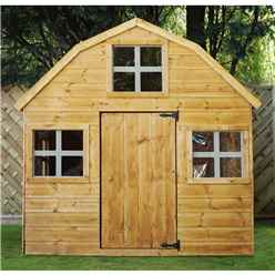 INSTALLED Barn Playhouse 6ft x 6ft - INCLUDES INSTALLATION