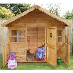 Installed Honey Playhouse 6ft x 6ft (6 x 5 6) - Includes Installation