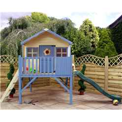 "INSTALLED Honey Playhouse 6ft x 6ft (6' x 5' 6"") With Tower and Slide - INCLUDES INSTALLATION"