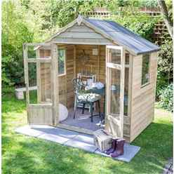 7 x 5 Pressure Treated Overlap Summerhouse (219cm X 146cm)