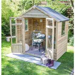 8 x 6 Pressure Treated Overlap Summerhouse (258cm X 193cm)
