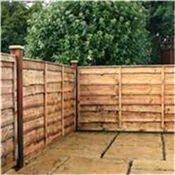 3FT Lap Panel Overlap Fencing Panel - 1 Panel Only + Free Delivery