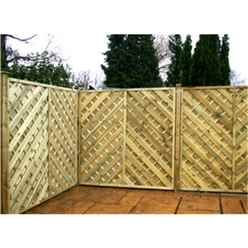 6FT Pressure Treated Chevron Weave Panels - 1 Panel Only + Free Delivery*