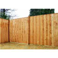 4ft Pressure Treated Vertical Hit & Miss Panels - 1 Panel Only (min Order 3 Panels) + Free Delivery*