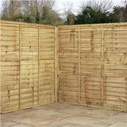 6FT Pressure Treated Waney Edge Overlap Fencing Panels - 1 Panel Only + Free Delivery*