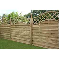 4FT Pressure Treated Wavey Horizontal Weave Fencing Panels - 1 Panel Only + Free Delivery*
