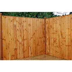 3ft Vertical Feather Edge Fencing (flat Top) - 1 Panel Only (min Order 3 Panels) + Free Delivery*
